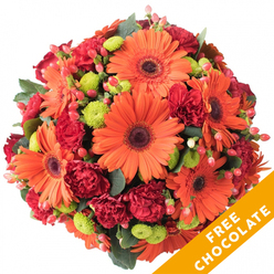 AFLAME WITH COLOUR POSY