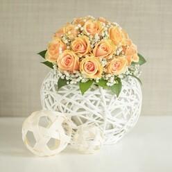 ORANGE ROSES WEDDING ARRANGEMENT